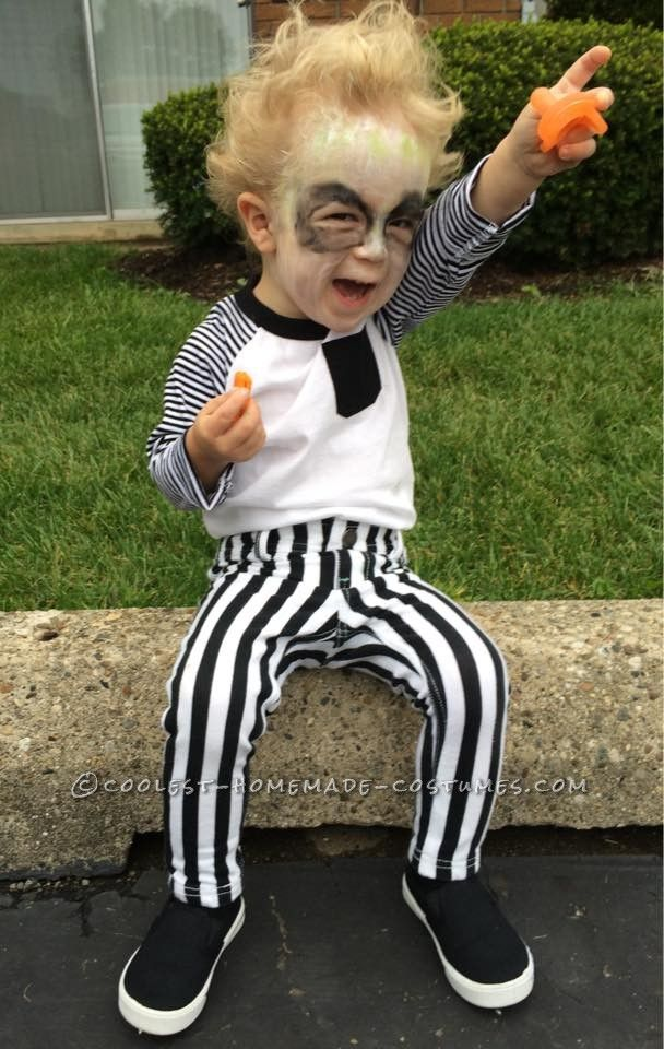 Cute diy beetlejuice costume for a toddler coolest for Cute boy girl halloween costume ideas