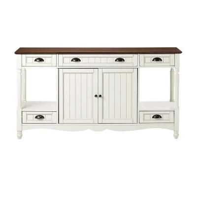 Home Decorators Collection Southport 58 In W Ivory And Oak Buffet 0805400210 At The
