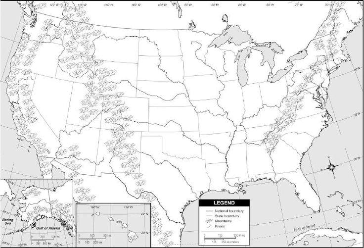 Us Map Blank States