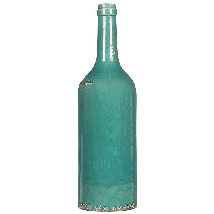 Sfeervolle keramieken fles Choissy. Kleur: azuur. Hoogte: 52 cm. #kwantum_woonahaves_fles #kwantum #kwantum_nederland #woonahaves #daarwoonjebetervan