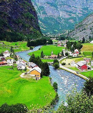 Flåm,Sogn og Fjordane county,Norway: - PixoHub