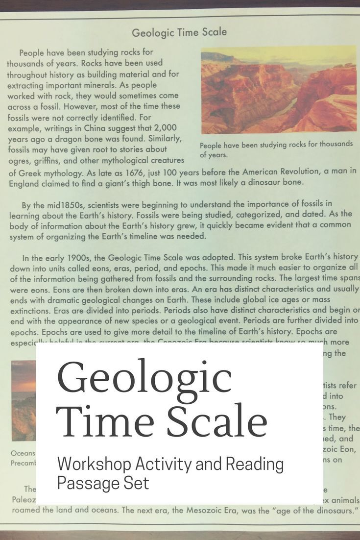Geologic Time An Introduction To Eras Periods And Epochs Time Worksheets Science Teacher Resources Earth Science Activities