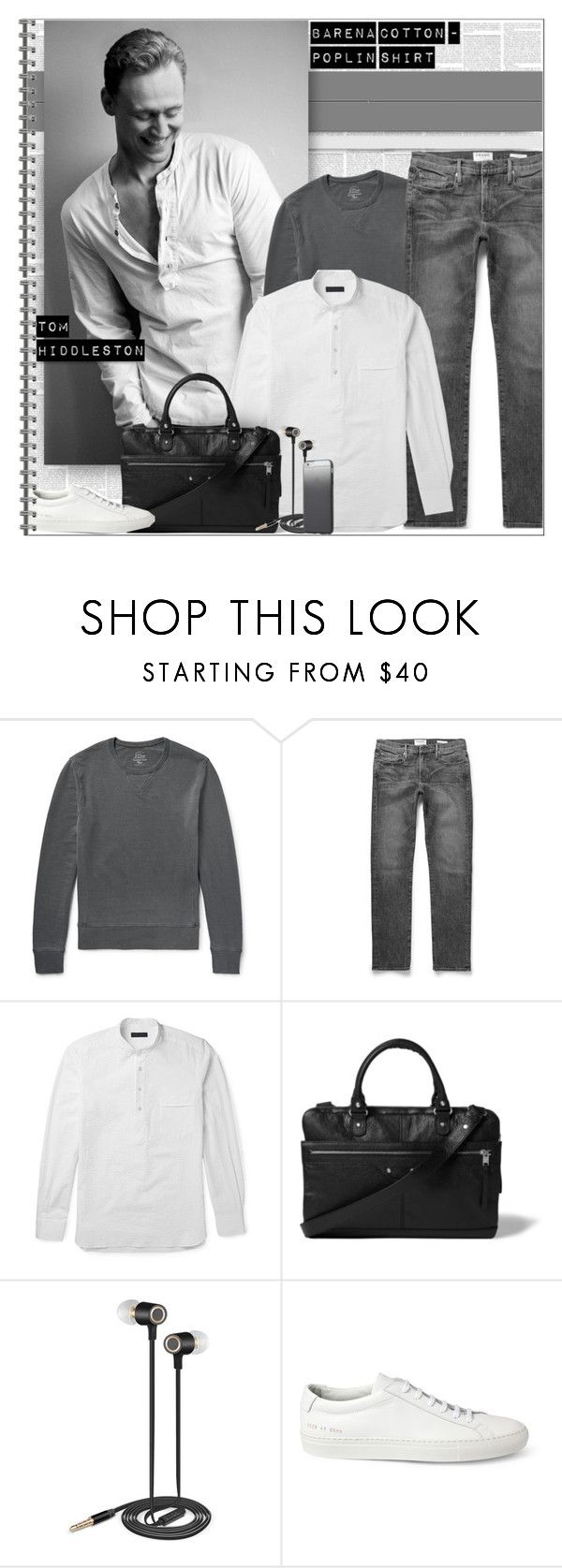 """White Shirt - Tom Hiddleston"" by alves-nogueira ❤ liked on Polyvore featuring J.Crew, Thom Sweeney, Trilogy, Balenciaga, Nicole Miller, Common Projects, Tavik Swimwear, men's fashion and menswear"