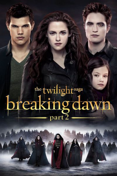 Bella (Kristen Stewart) awakes -- as a vampire -- from her life-threatening labor, and her newborn daughter, Renesmee, proves to be very special indeed. While Bella adjusts to her new state of being, Renesmee experiences accelerated growth. When the Volturi learn of the baby's existence, they declare her to be an abomination and sentence the Cullens to death. Bella, Edward (Robert Pattinson) and the rest of the clan seek help from allies around the world to protect their family.