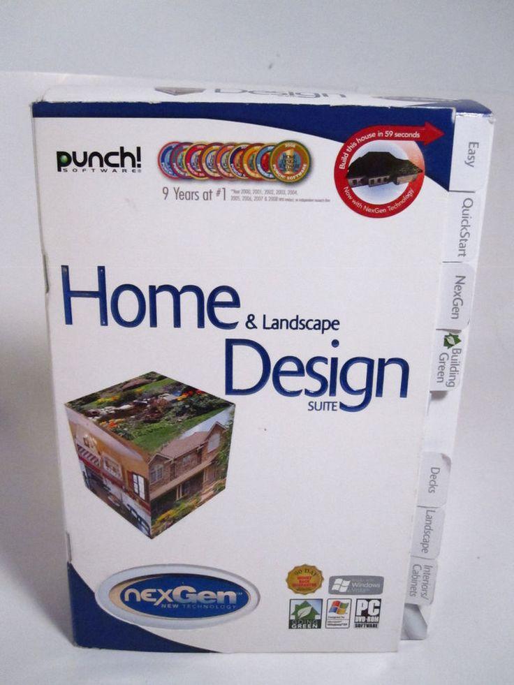Marvelous Punch Software Home Landscape Suite PC Program Complete Box eBay