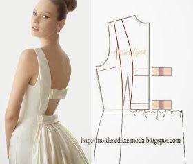 Moldes Moda por Medida: DETALHES DE MODELAÇÃO-9 Cortes y Costura moda fashin sew costura roupas patrones free pattern moldes gratis