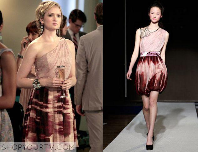 Gossip Girl: Season 2 Episode 3 Ivy's One Shoulder Dress