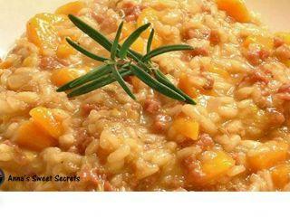 Un primo piatto modesto per grandi tavole: risotto con la zucca