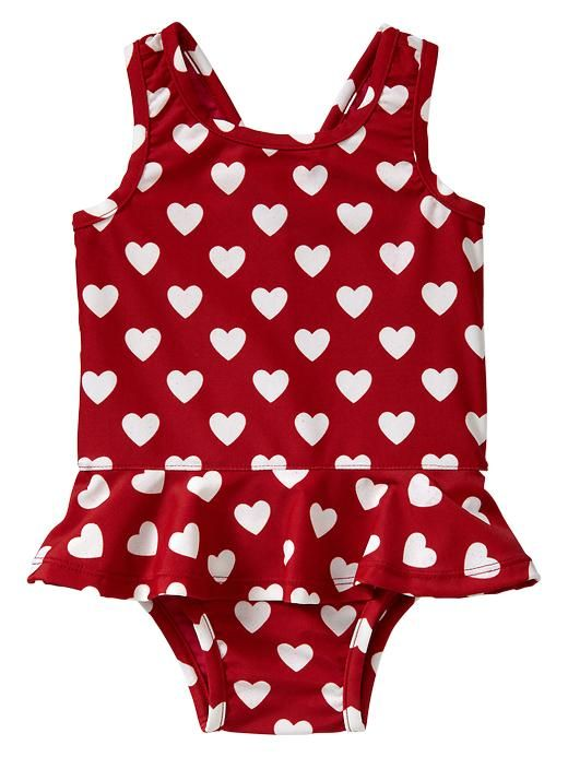 Gap Heart Ruffle One Piece
