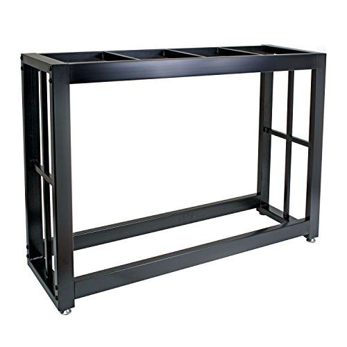 48.5'L X 13.5'W X 29.5'H. 55 gal. metal tank stand is the perfect accent to any home. Our sturdy solid steel welded stand fits 55 gal. aquariums or terrariums. Stand is super easy to assemble....