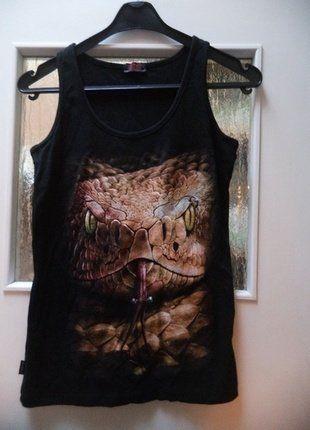 Kup mój przedmiot na #vintedpl http://www.vinted.pl/damska-odziez/koszulki-na-ramiaczkach-koszulki-bez-rekawow/17033038-top-z-wezem-spiral-direct-snake-eye-stud