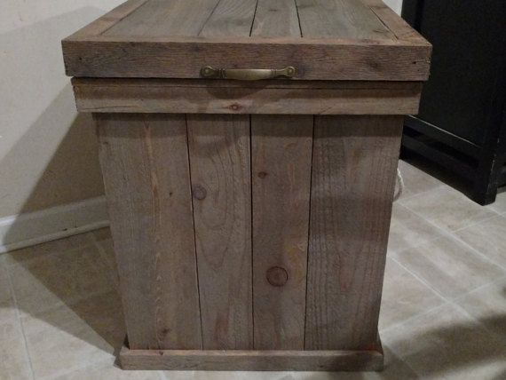 Trash Can Cover, Cedar Trash Can, 13 Gallon Trash Can Holder, Outdoor Trash Can, Trash Bin, Vented Trash Can Cover, Garbage Can, Cedar