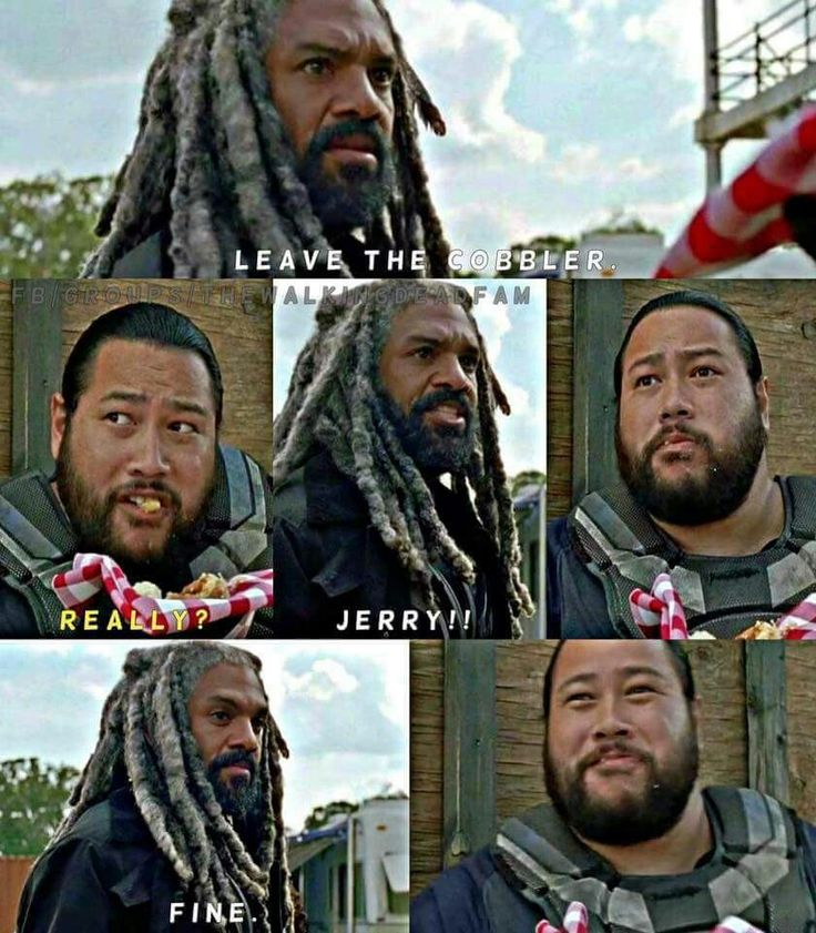"We must protect Jerry from the world!!! He's too precious!! The Walking Dead Season 7 Episode 13 ""Bury Me Here."" TWD S07 E13."