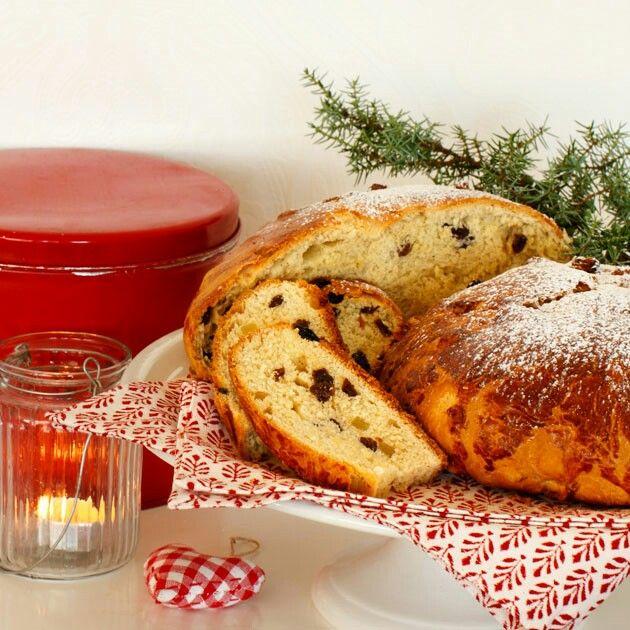 Julekake: Norway Christmas fruit bread with cardamom.