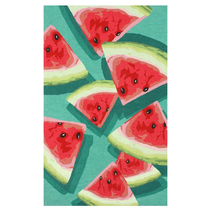 Watermelon Rug // yum! want!