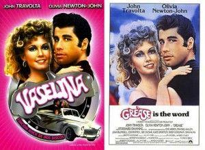 Vaselina (Grease) cartel de pelicula traducir comparación