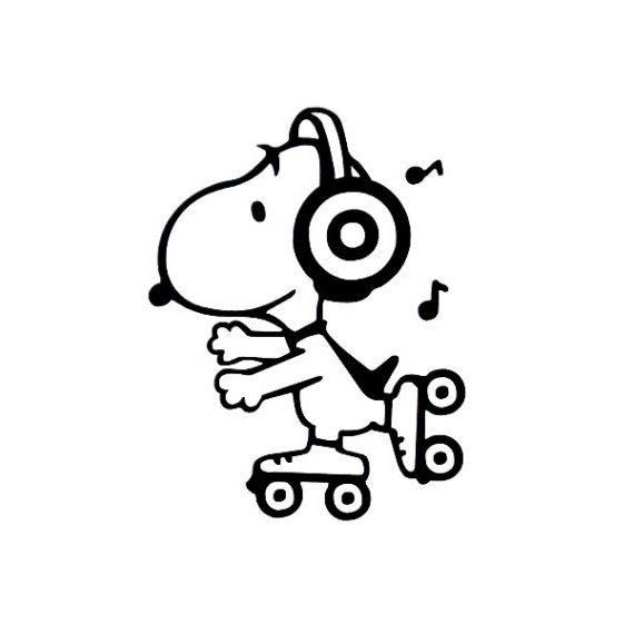 Pin By Grechen Spottke On Art Inspiration Snoopy Vinyl Decals