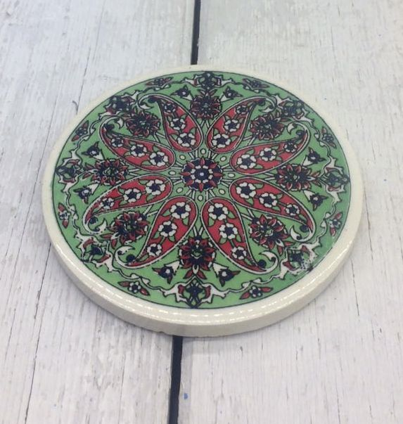 TURKISH CERAMIC COASTER, 0033