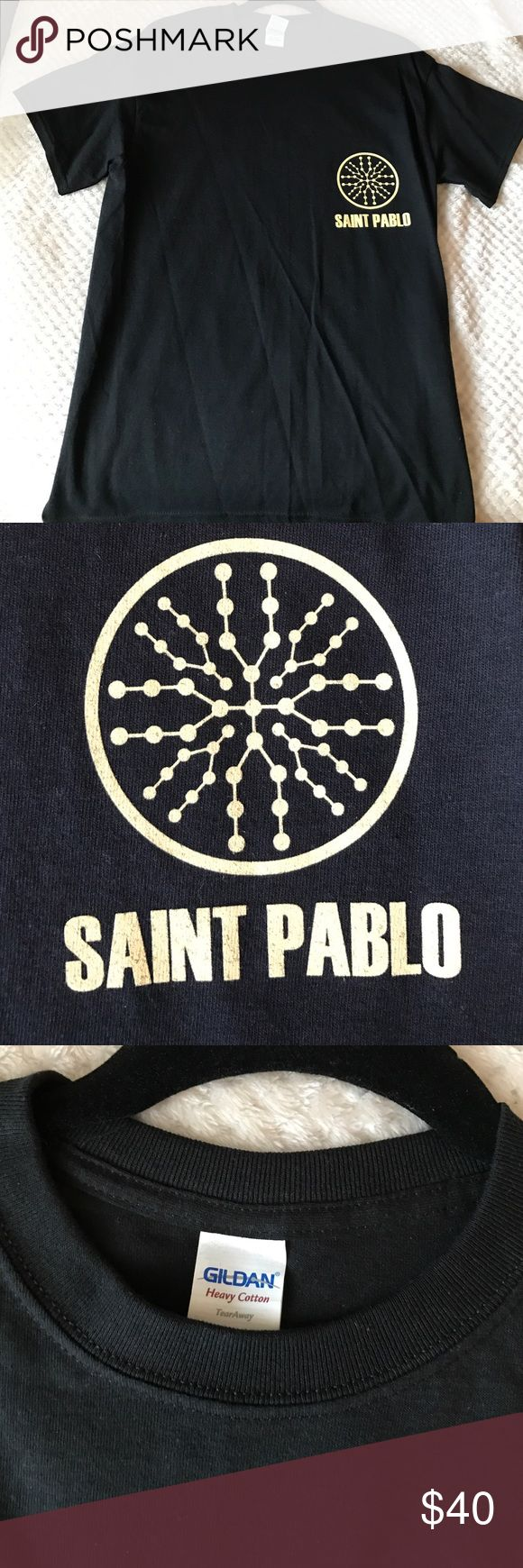YEEZY Kanye West SAINT PABLO merch NEW. M. NEW never worn SAINT PABLO TOUR merch t shirt in size M. These all sold out instantly during every show. Original receipt and be provided for proof of authenticity. 100% Authentic guaranteed or 2x your money back. I can also provide photo of my tickets for proof that I went to show at MSG. Great gift, highly desired for all Kanye fans and younger age group who are into sneakers. Yeezy Shirts