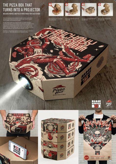 pizza hut caja proyector loqueva peliculas