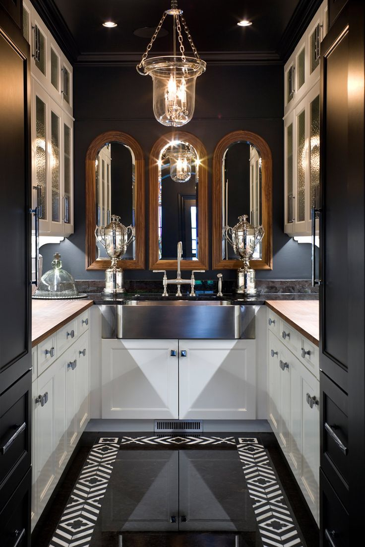 217 best butler 39 s pantry images on pinterest pantry for Galley kitchen small space