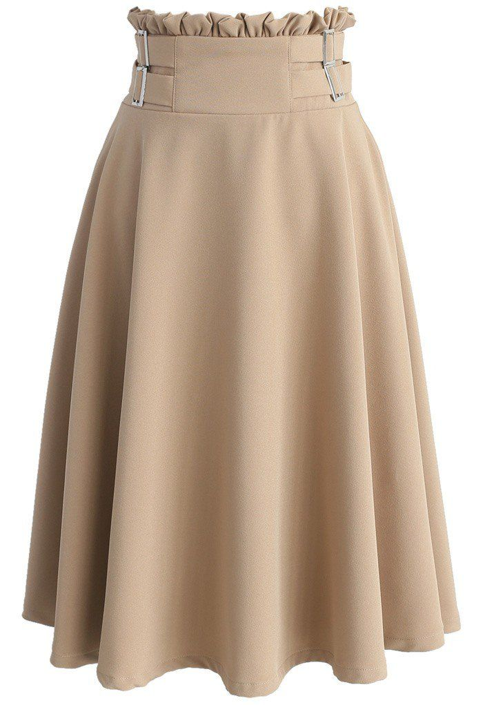 Just Wanna Twirl A-line Skirt in Light Tan - New Arrivals - Retro, Indie and Unique Fashion