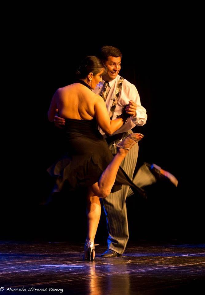 "Milonga de Marcela y Orlando. Teatro Diego Rivera, Puerto Montt, Chile. 10 Enero 2014. ""Tango Obsesión""."
