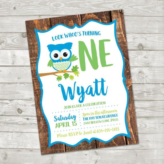 Look Whoo's Turning One Birthday Invitation Owl Birthday