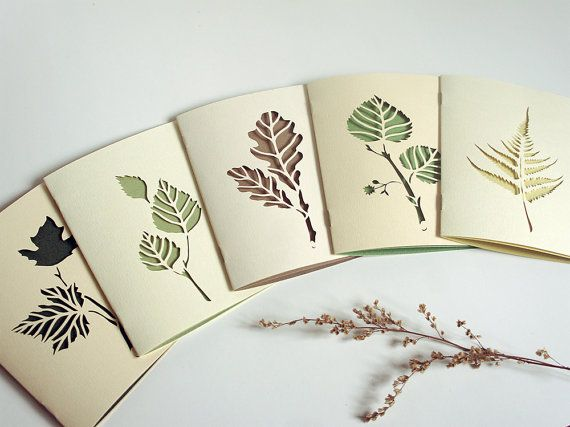 Botanical papercut greetings cards - set of 5 handcut cards - 4 x 6 inches By Papercutout on Etsy $40