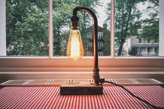 Lámpara de tubo de cobre el Talbot por CliftonCopperCo en Etsy