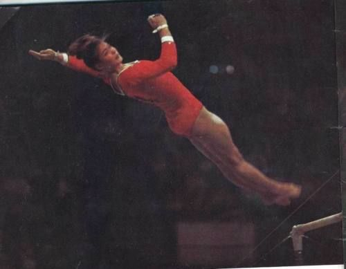 POSTER Tourichtcheva Russia gymnastics OLYMPIC games 1972 Munich 1976 Montreal in Sports Mem, Cards & Fan Shop, Fan Apparel & Souvenirs, Olympics | eBay