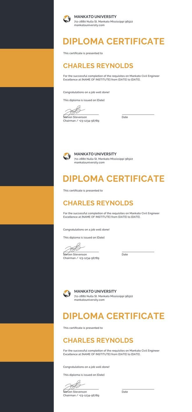 The 25 best certificate templates for word ideas on pinterest free diploma certificate template high quality printable certificate design for college university 1betcityfo Images
