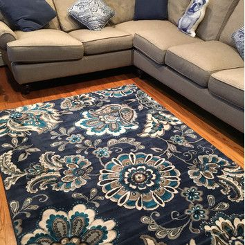 Andover Mills Fisher Blue Area Rug & Reviews | Wayfair