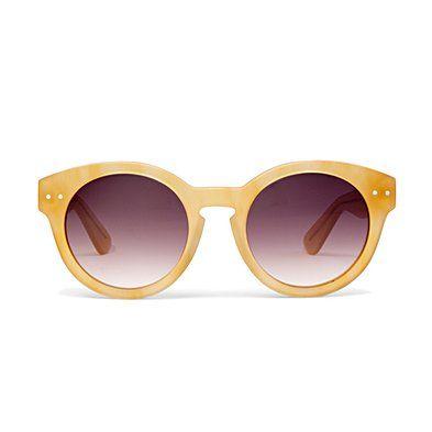Round sunglasses.