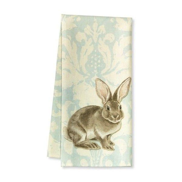 Painterly Damask Kitchen Towels, Set of 2