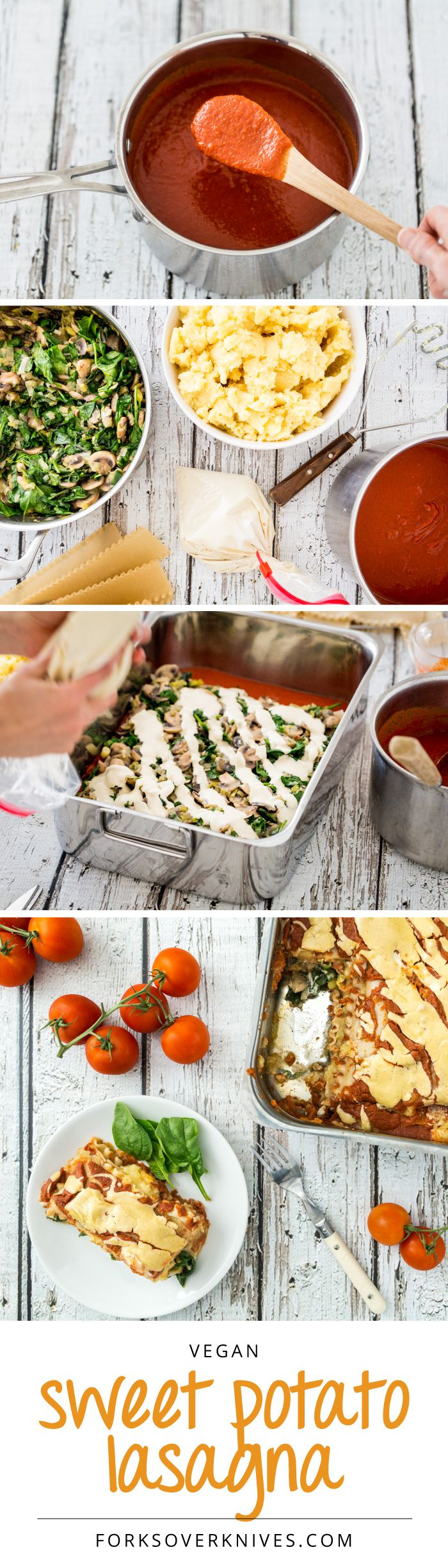 The perfect reward after a big organizing project is complete: Sweet Potato Lasagna