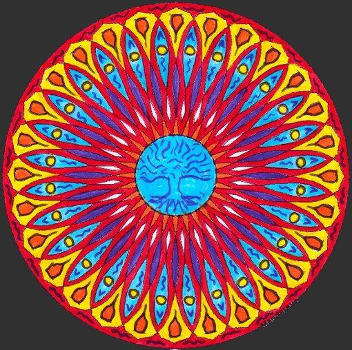 Mandala Vierge 224 Colorier Arbre De Vie Pour Art Th 233 Rapie