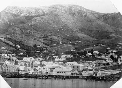Lyttelton Harbor, near Christchurch, New Zealand 1867.