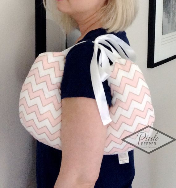 Breast Cancer Pillow for surgery underarm support by pinkpepperco