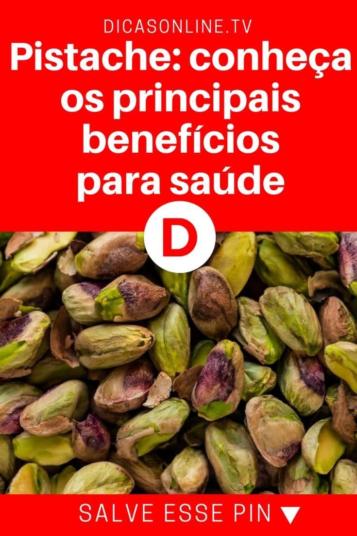 Pistache beneficios   Pistache: conheça os principais benefícios para saúde   O pistache pode ajudar a controlar o peso e até mesmo a diabetes e problemas inflamatórios: