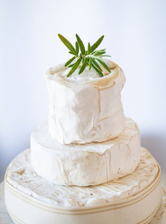 Cheese wedding cake.