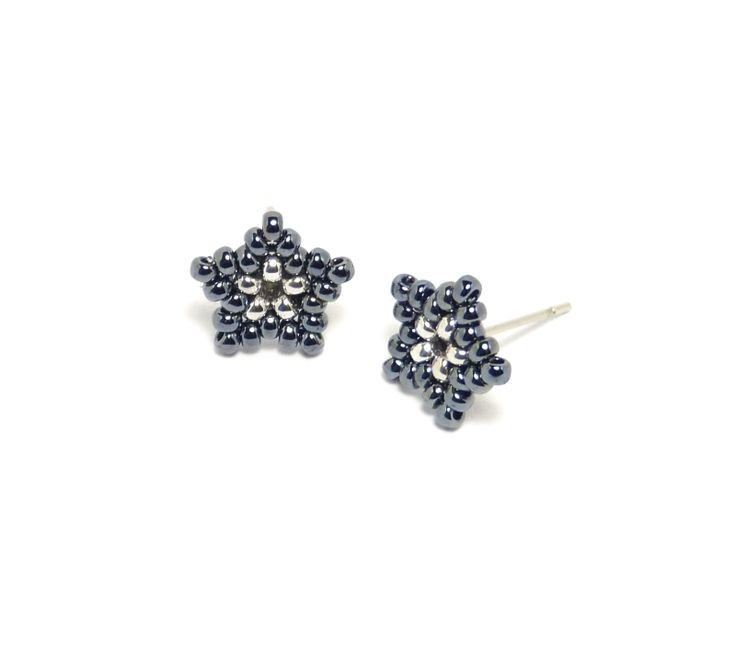 Grey Beads: Little Grey Stars