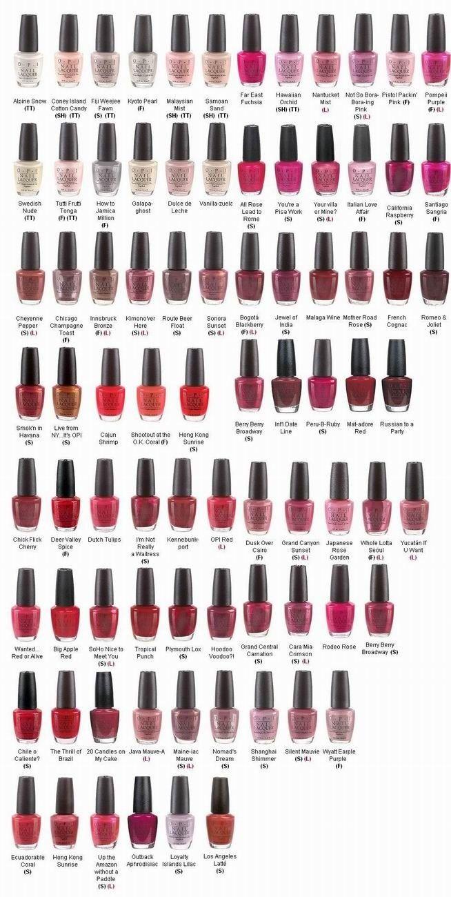 opi nail polish most popular colors chart opi pinterest opi nails and colour chart. Black Bedroom Furniture Sets. Home Design Ideas