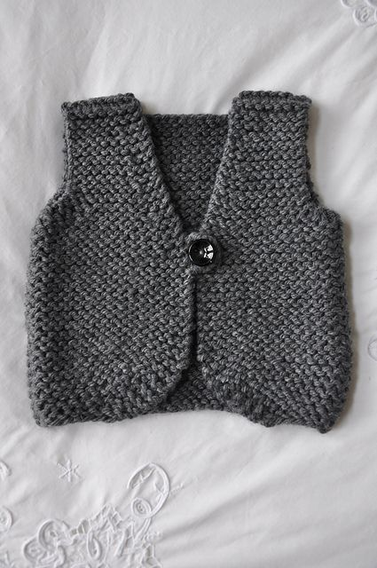 Free Baby Vest Knitting Pattern : Best images about baby vests and sleeveless sweaters