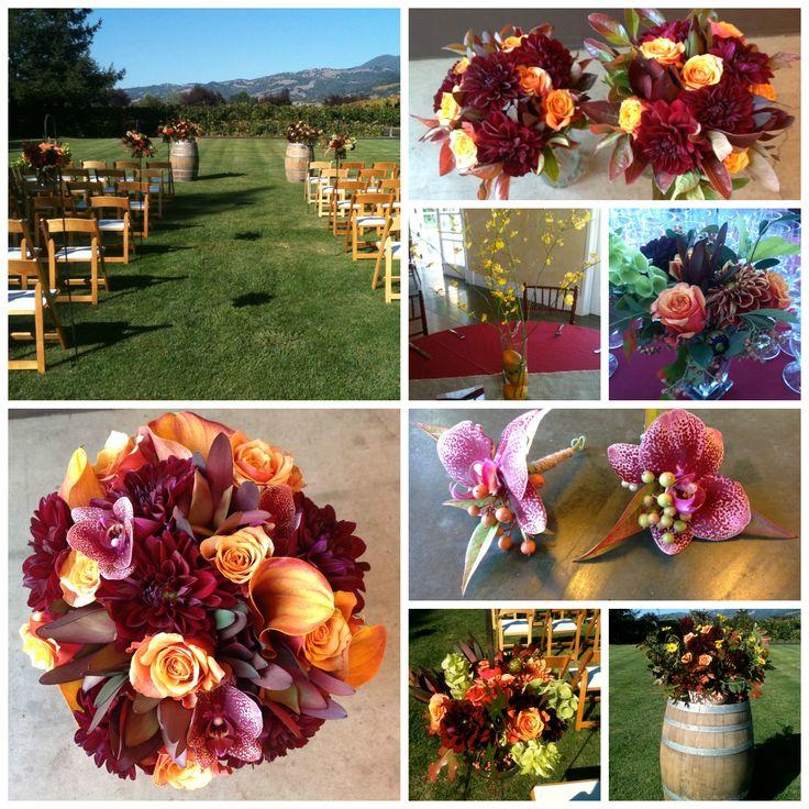 Fall Wine Country Wedding - www.DragonflyFloral.com - #dragonflyfloral #trentadue #Fallweddingflowers