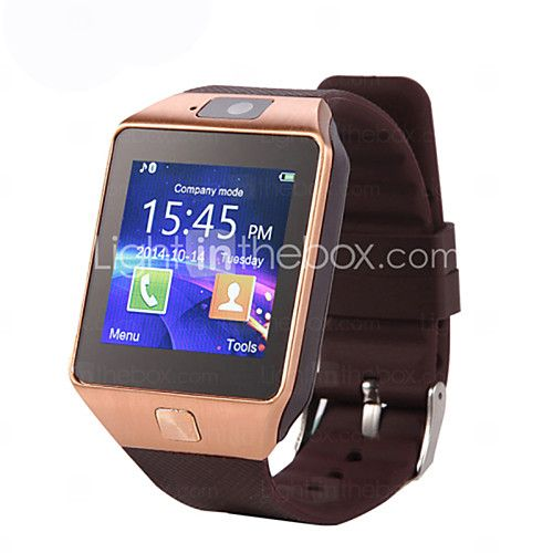 DZ09 MTK6261 1.56 inch Bluetooth Smart Watch Support Micro SIM Card Wearable Devices SmartWatch - USD $32.99