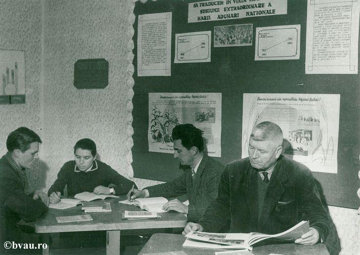 """Biblioteca Buciumeni, anul 1964, Galati, Romania. Imagine din colecțiile Bibliotecii Județene """"V.A. Urechia"""" Galați."""