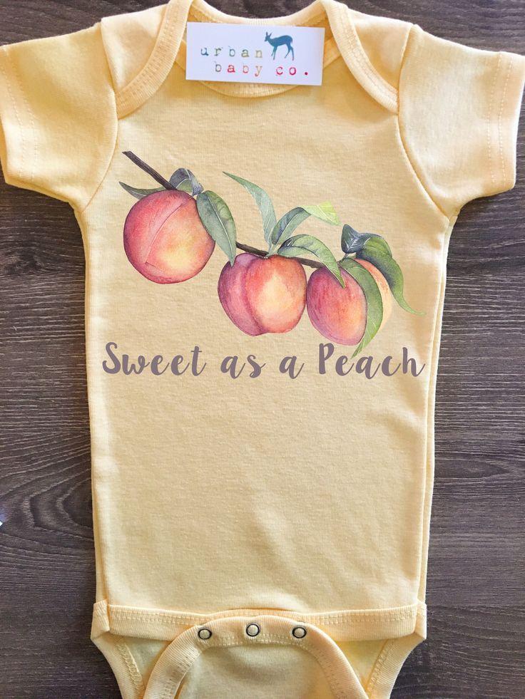 Sweet as a Peach, Baby, Boy, Girl, Unisex, Gender Neutral, Infant, Toddler, Newborn, Organic, Bodysuit, Outfit, One Piece, Onesie®, Onsie®, Tee, Layette, Onezie®