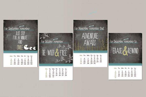 Desk calendar printable calendar 2018 calendar mini desk