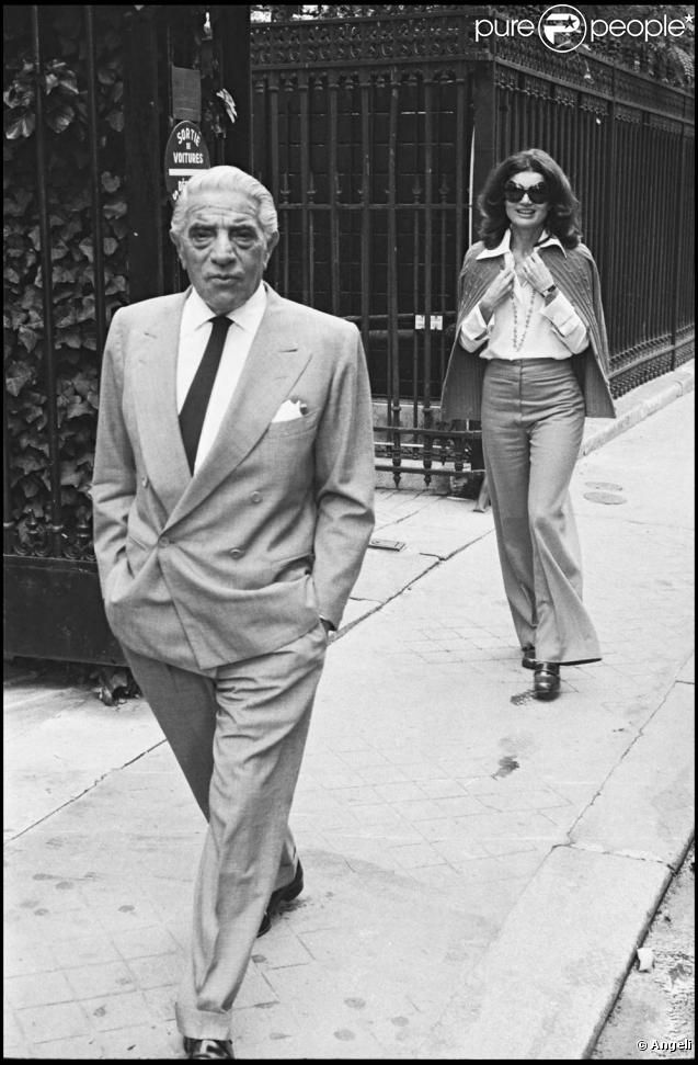 Jacqueline Kennedy Onassis with husband Aristotle Onassis